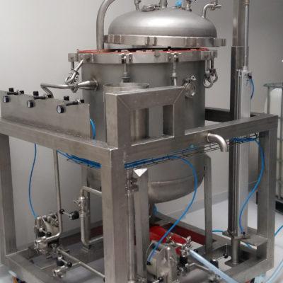 Instalacja do filtracji brzeczki pofermentacyjnej