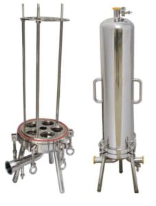 Rozmontowana obudowa sanitarnego filtra świecowego